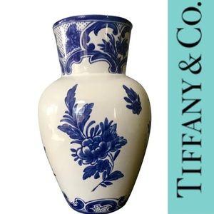 Blue and White Delft Tiffany & Co. Vase
